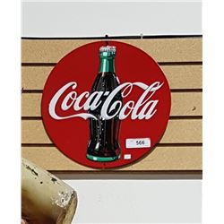 COCA COLA SIGN EMBOSSED