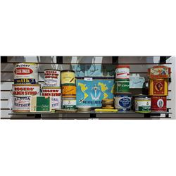 SHELF LOT COLLECTIBLE TINS