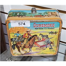 VINTAGE GUN SMOKE METAL LUNCH KIT