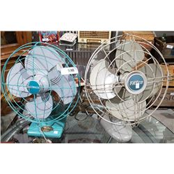 TWO VINTAGE ELECTRIC FANS