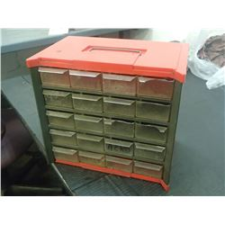 "Small 20 Drawer Organizer, Overall: 9.5"" x 6"" x 9"""