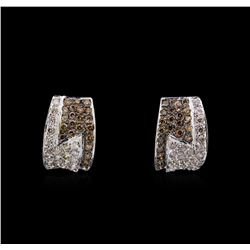 14KT White Gold 1.45 ctw Diamond Earrings