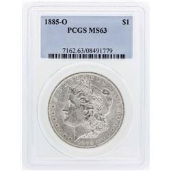 1885-O $1 Morgan Silver Dollar Coin PCGS MS63