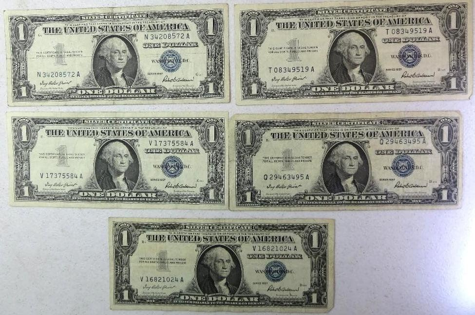 Image 1 1957 Silver Certificates
