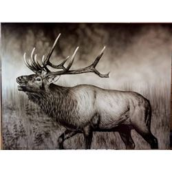 Canvass Elk Painting