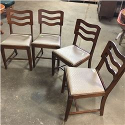 "4 Dining Chairs (Stamped ""Russet Sea Lace"")"