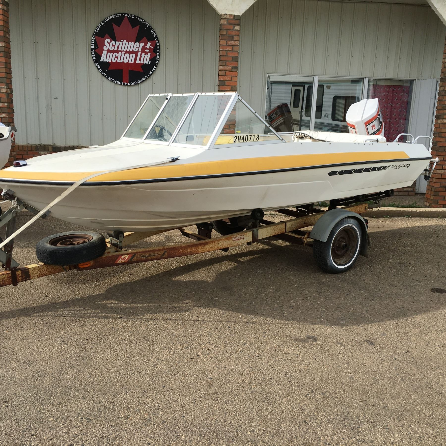 Vanguard 16' Boat w/75hp Chrysler Outboard Motor & Roadrunner Trailer (Note: Consignor reports that