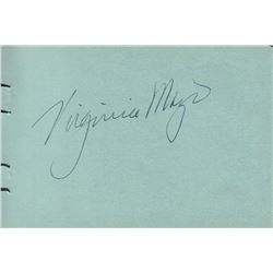 Virginia Mayo Signed Autograph Book Page