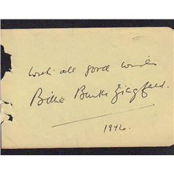 Billie Burke Siegfeld Signed Autograph Book Page