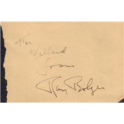 Ray Bolger Signed Autograph Book Page