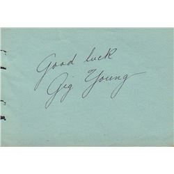 Gig Young Signed Autograph Book Page