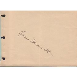 Joan Bennett Signed Autograph Book Page