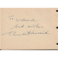 Paul Henreid Signed Autograph Book Page
