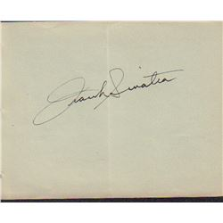 Frank Sinatra Signed Autograph Book Page
