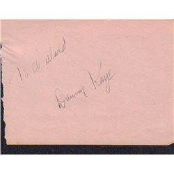 Danny Kaye Signed Autograph Book Page