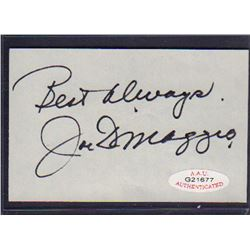 Joe DiMaggio Signed Cut AAU G21677