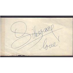 Liberace Signed United Airlines Weight Voucher