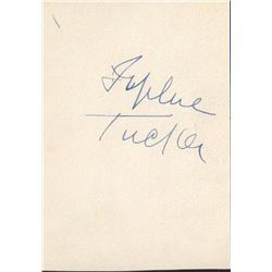 Sophie Tucker Signed Invitation Announcement