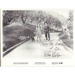 Ray Bolger The Wizard of Oz Signed 8x10 Photo