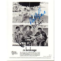 Robin Williams Nathan Lane Hank Azaria The Birdcage Signed 8x10 Photo