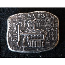 1 oz  .999 fine Silver Relic Bar - Old World Egyptian God Anubis Jackal