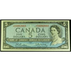 1954 - BC-39bA - 5 - Dollar - BIRTHDAY - Replacement - Serial Number - *SS0082003