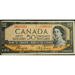 1954 $50 Dollar BC-34a, Bank of Canada 'Devil's Face' Banknote
