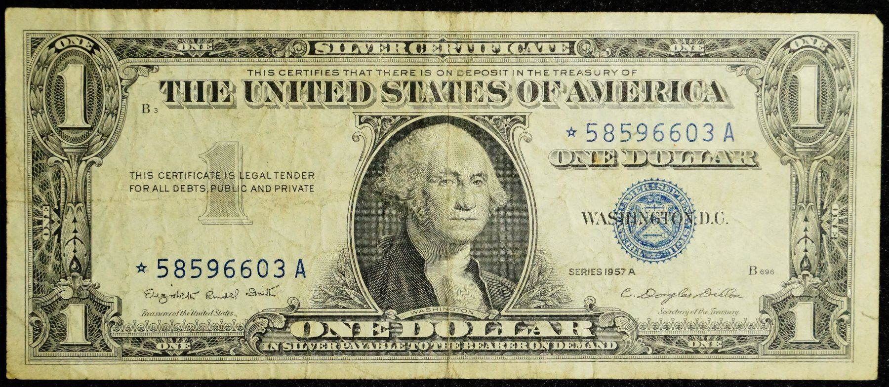 1957a Series Star Note Usa 1 Silver Certificate