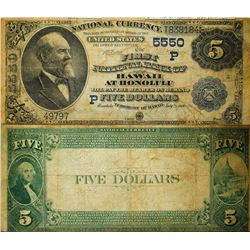 First National Bank of Hawaii, $5