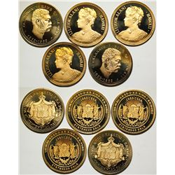 Hawaii Proof Commemorative Silver-gilt Medals