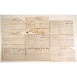 Nevada City Assay Receipts