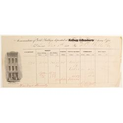 Kellog & Humberts Assay Receipt to Darius Ogden Mills & Company2