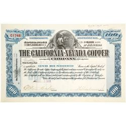 California-Nevada Copper Co. Stock Certificate
