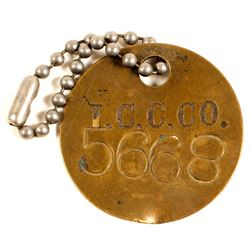 Inspiration Copper Co. Brass Equipment Tag