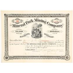 Mineral Park Mining Company Stock Certificate