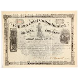 Papago Chief Consolidated Mining Co. Stock Certificate