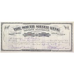 South Silver King Mining Co. Stock Certificate, Pioneer District