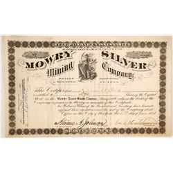 Mowry Silver Mining Company Stock Certificate, Pioneer Mining District