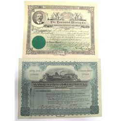 Two Different Alamo District Mining Stock Certificates