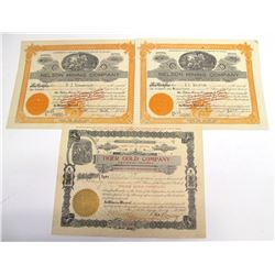 Three Tiger District Mining Stock Certificates