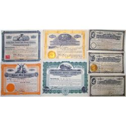Seven Different Arizona Mining Stock Certificates
