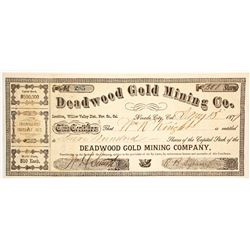 Deadwood Gold Mining Co. Stock Certificate