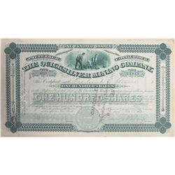 Quicksilver Mining Co. Stock Certificate, New Almaden