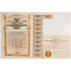 Colorado Gold Mining & Smelting Co. Stock and Bond