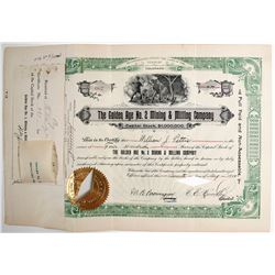 Golden Age No. 2 Mining and Milling Co. Stock Certificate