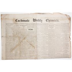 Carbonate Weekly Chronicle 1879, Leadville Mining News