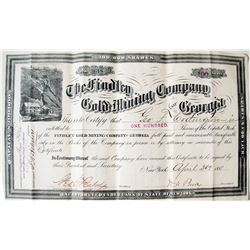 Findley Gold Mining Co. of GA Stock Certificate