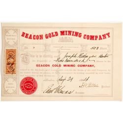 Beacon Gold Mining Co. Stock Certificate