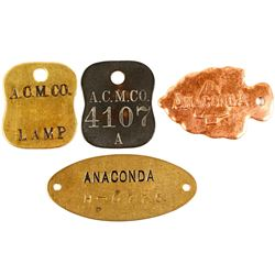 Anaconda Copper Mining Metal Tags (4)