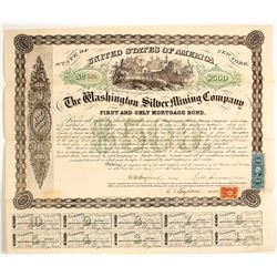 Washington Silver Mining Co. Bond, Austin, 1867